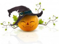 pumpkin with a hat