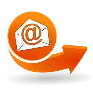messagerie sur bouton web orange